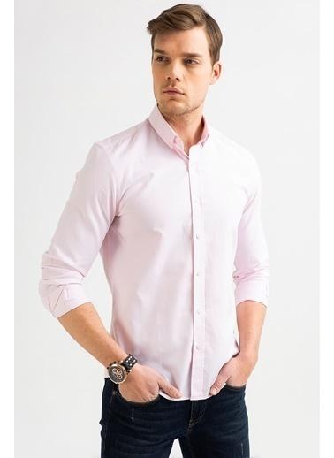 Avva Erkek  Oxford Klasik Yaka Gömlek A01S2272 Pembe